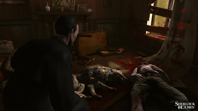Unlike previous games in the series, the crimes in Testament are fictional, so they can be showed in all their gory glory.