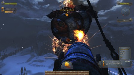 Just destroying an enemy airship with a flamethrowing-cannon, 'cuz that's how I do. I do what I want.