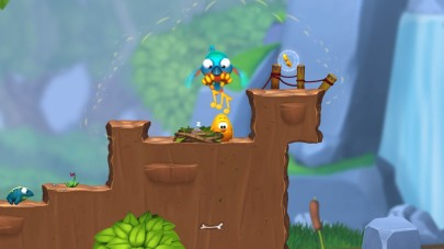 Here Toki Tori, singing to a giant bird. Pretty standard stuff.